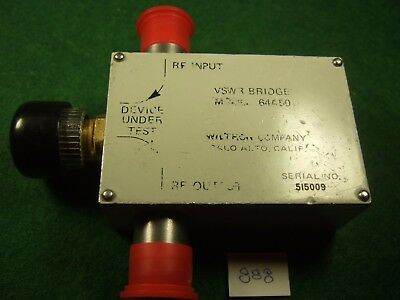Wiltron 64a50 Vswr Bridge 3-8 Ghz 36 Directivity - Tested Used