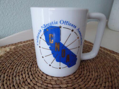 Vintage CALIFORNIA NARCOTIC OFFICER ASSOCIATION Coffee Mug CNOA Narc Police
