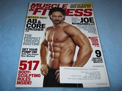 Muscle & Fitness Magazine September 2015 Joe Manganiello Abs Core Triceps  for sale  Shipping to India