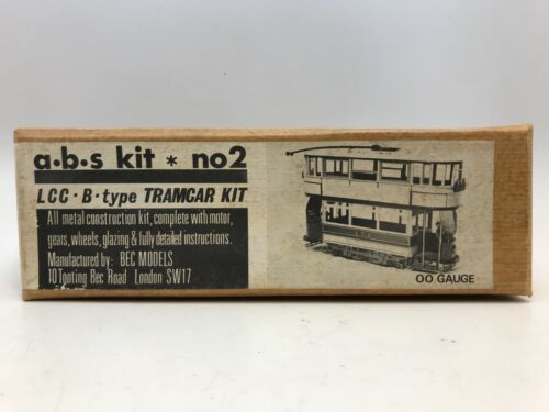 Vintage ABS Kit No. 2 LCC B-Type Tramcar Kit in OO Gauge