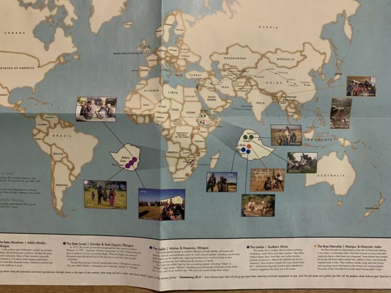 The Lost Tribes Of Israel Around The World Map