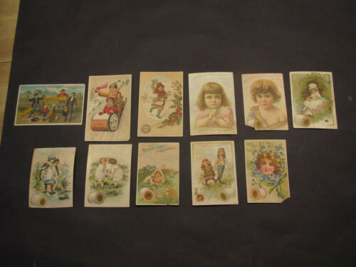 Victorian era lot 11 diff trade/advertising cards featuring sewing thread-excond