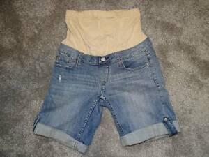 Jeans West Maternity Denim Shorts Size 6