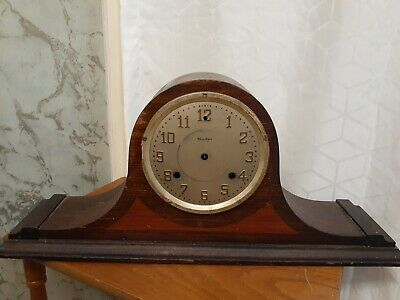 Antique Waterbury Napoleon Hat Mantle Shelf Clock for Repair or Display Parts
