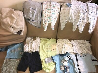 Baby Boy Clothes 0-3 Month Bundle include M&S, mothercare, mini mood & etc...