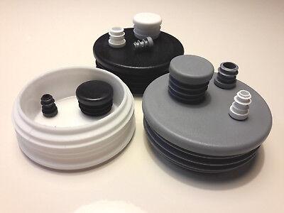 Rohrstopfen Durchmesser 10 - 90mm Lamellenstopfen Rohrkappen Kunststoff Pfosten ()