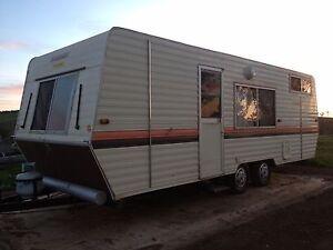 22ft Windsor Caravan (Tripple Bunks) Orange Orange Area Preview