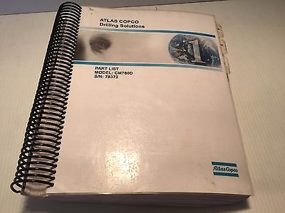 Atlas Copco Cm780d Hydraulic Track Drill - Parts List Book Manual
