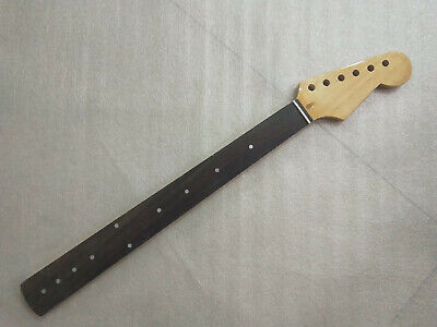FRETLESS 22 Frets Maple Electric Guitar Neck For ST Style rosewood fingerboard  (Fretless Guitar Neck)
