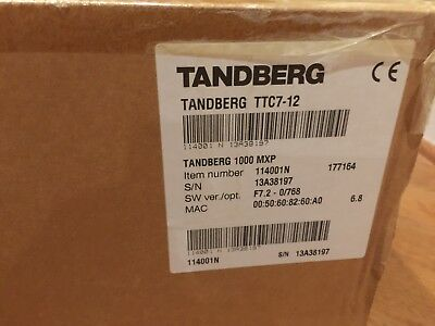 Tandberg 1000mxp Ttc7-12 New In Box With All Accessories