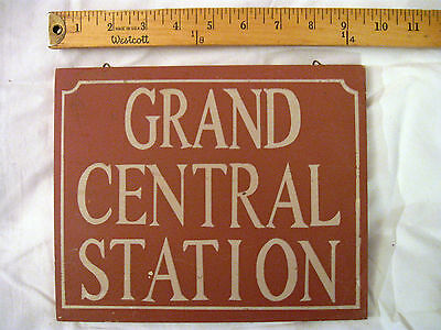 """Rustic Sign-Plaque """"GRAND CENTRAL STATION"""" Sale!!!"""