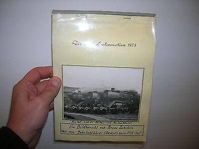 """Alter privat Lokführer Foto Kalender mit 30 Bilder """" Dampflok Eisenbahn Lok """""""
