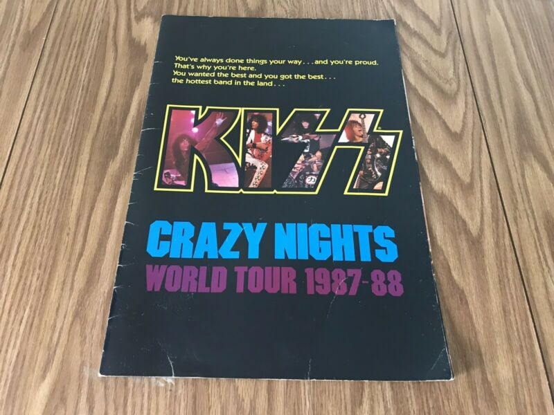 Vintage Kiss Crazy Nights 1987-88 World Tour Book
