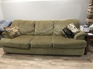 couch, love seat, chair and end tables