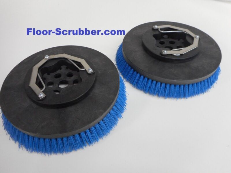 "Set (2) Tennant Nobles Replaces 399247 SS5 T5 14"" Floor Scrubber Poly Brushes"
