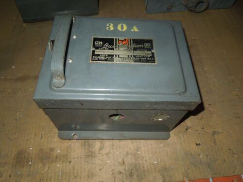 Bulldog Bp321 30a 3ph 3w 240v Fusible Cover Operated Bus Plug Used E-ok