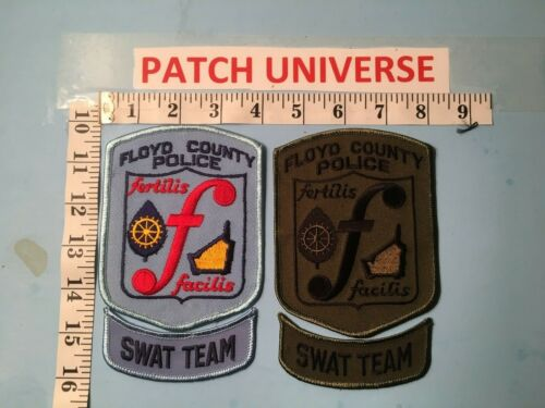 LOT OF 2 DIFFERENT FLOYD COUNTY SHERIFF SWAT SHOULDER PATCHES O046