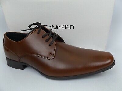 Calvin Klein Men's Brodie Burnished Oxford Shoes Brown, SZ 9.0 M, DISPLAY 15487