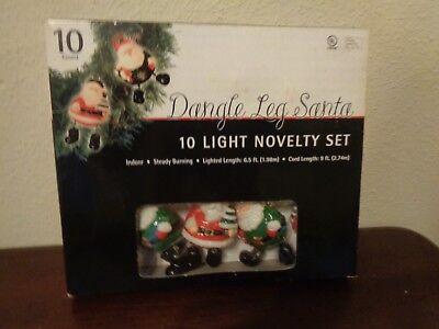 Dangle Leg Santa (Dangle Leg Santa Christmas Lights 10 Light Strand String Novelty Set)