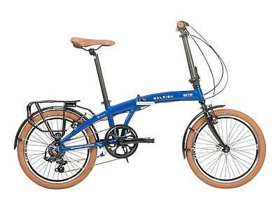 """Raleigh Stowaway One Size Fits Most Blue 28cm 11"""" Unisex 2021 Folding City Bike"""