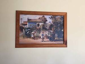 D'arcy Doyle Big Ring print with wooden frame L88cm x W60cm Kingsville Maribyrnong Area Preview