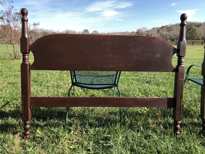 Vintage Mahogany Twin Bed