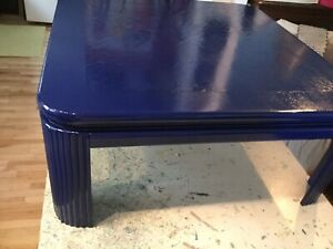 Navy blue large square coffee table- -