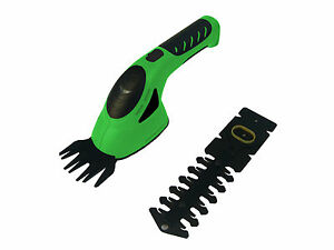 3.6V 2-IN-1 GRASS CUTTER & HEDGE TRIMMER HAND HELD GARDEN POWER TOOLS - GREEN