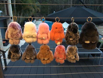 150+ fluffy bunny keyrings