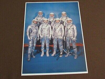 JOHN GLENN FRIENDSHIP 7 FLIGHT NASA ASTRONAUTS SIGNED AUTO VTG COLOR 8X11 PHOTO