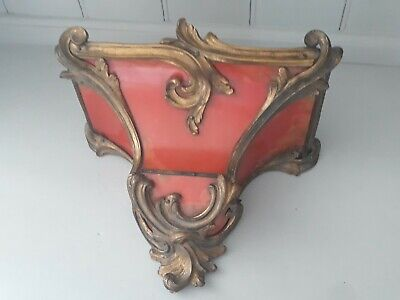 18th Century red lacquer and brass Clock Bracket c1750