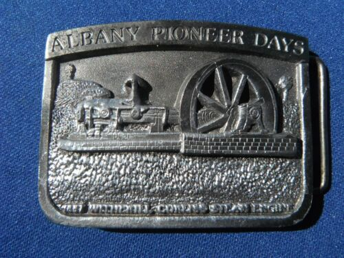 RARE Vintage ALBANY PIONEER DAYS BELT BUCKLE.   Made in USA!!!