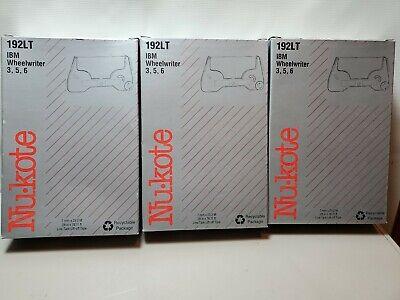 Nukote 192lt Ibm Wheelwriter Tape 3 5 6 Package Of 3 New Old Stock