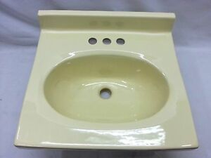 yellow bathroom sink bs 143 nos vintage retro yellow bathroom sink 2105 1982 15235