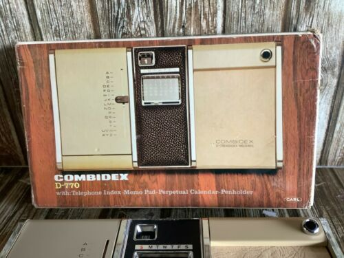 VINTAGE 1970s COMBIDEX D-779 DESK CADDY TELEPHONE INDEX NOTEPAD AS NEW from 70