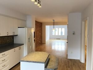 Lachine 6 1/2 3BR ground floor with backyard parking waterfront