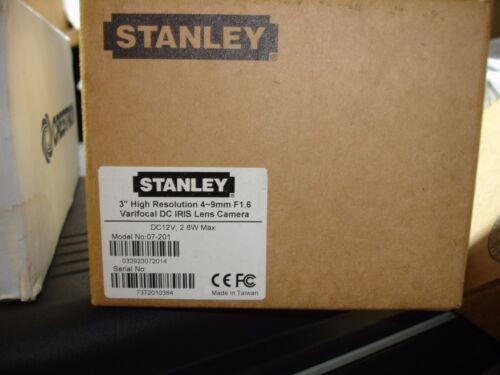 "Stanley 3"" 07-201 High Resolution F1.6 Varifocal DC IRIS Lens Dome Camera 4-9mm"