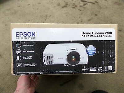 Epson 2100 V11H851020 Home Cinema 1080p 3LCD Projector - White NEW IN BOX