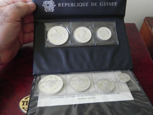 1968 Republic Of Guinea Proof Set RARE!