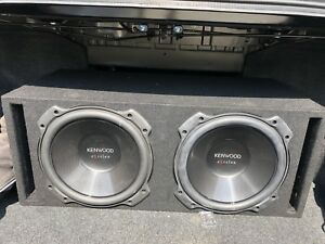"""2 12"""" Kenwood Excelon subwoofers in box and amp"""