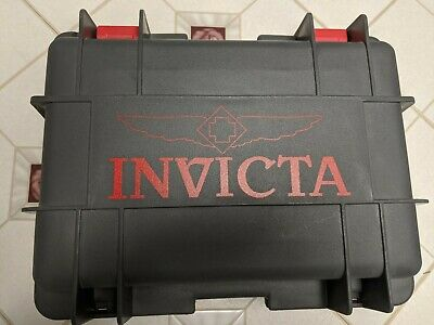 Invicta 8-Slot Dive Case Holds Eight Large Watches Gray Red