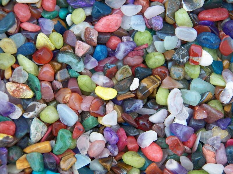 1000 Carat Lots of Size #2 Tumbled Polished Gemstones (~500 GEMSTONES)