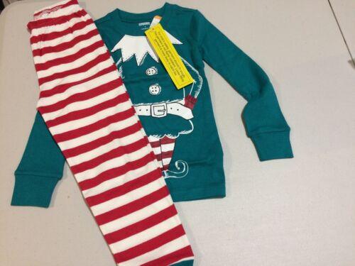 NWT Gymboree Christmas Boys Gymmies Elf Pajama Set Holiday 4,5,6,7