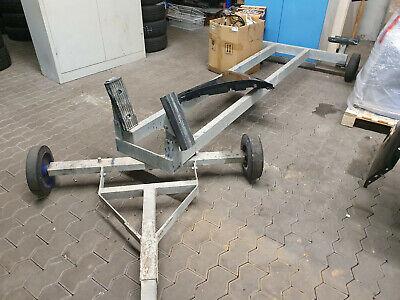 2x Robuste Kurbelstütze Langauflage Bootstrailer Bootauflage Bootsanhänger