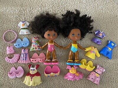 Fisher Price Snap N Style Dolls Lot Large PlaySet