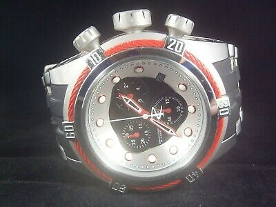 Invicta Reserve 52mm Bolt Zeus Swiss Chronograph Watch Red Black Silver 22161