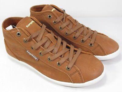 Kangaroos Leder-sneaker (KangaROOS Slagg Leder Schuhe Sneaker cognac braun natur NEU 79,95)