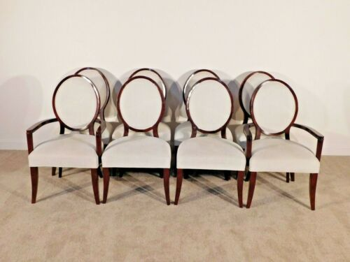 RALPH LAUREN HOME Mahogany HEPPLEWHITE Set of 8 Sabre Leg Dining Chairs