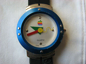 Vintage-Apple-Computer-Mac-OS-Wrist-Watch-1997-Wristwatch-Japan-Movement-Logo