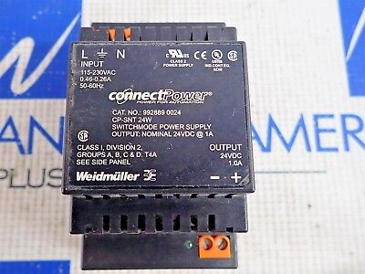 Weidmuller Connect Power 992889 0024 Power Supply 24vdc 1.oa